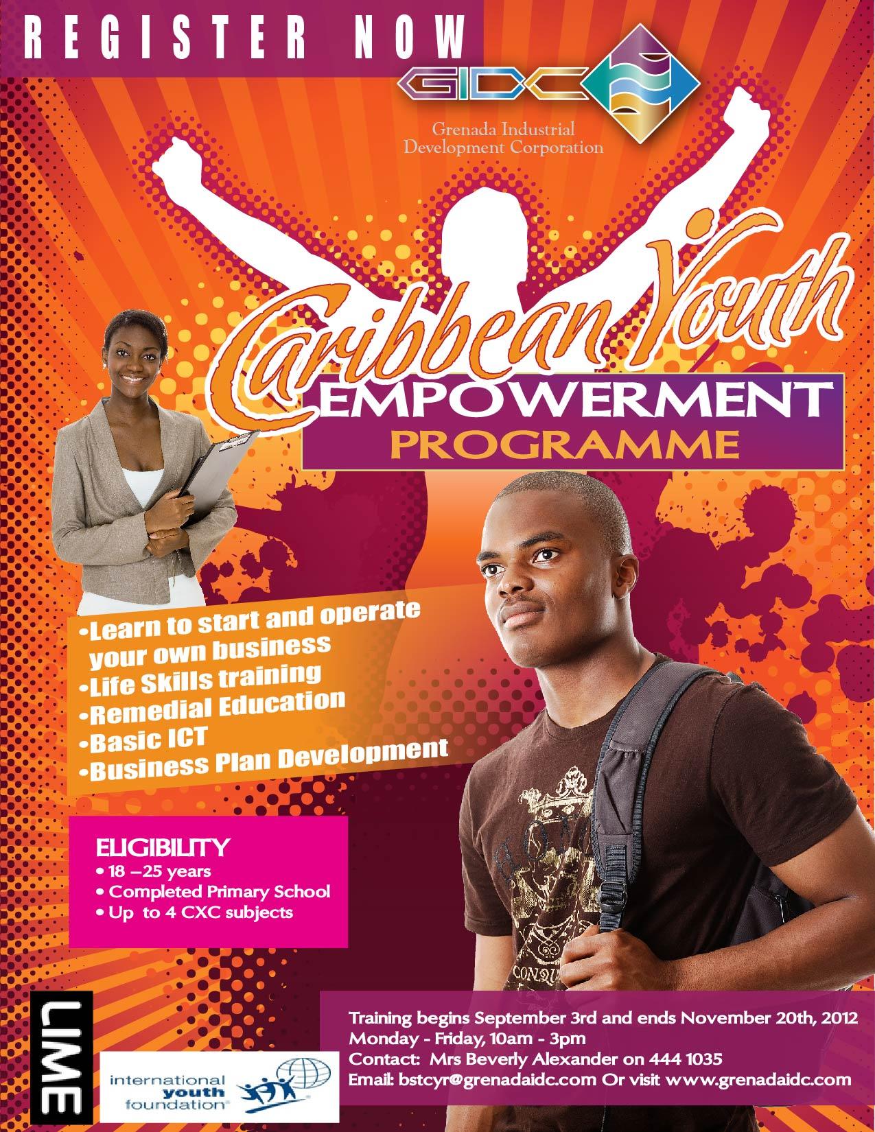 caribbean youth empowerment programme  u2013 groundation grenada