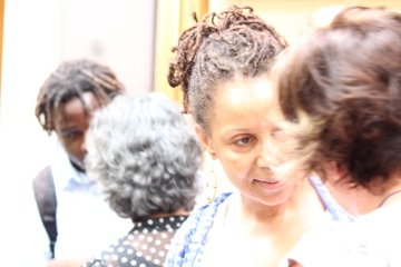 Jamaican writers Ifeona Fulani and Olive Senior at the 2013 Bocas Lit Fest, Port of Spain, Trinidad