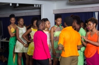 Jamal Alexis (In hot pink) with his models
