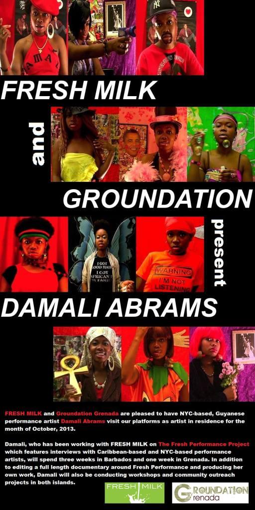 Damali Abrams Artist-in-Residence
