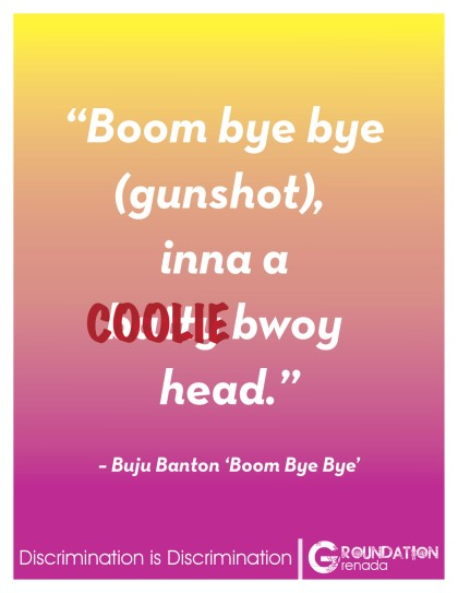 Groundation Anti-Discrimination Campaign - Boom Bye Bye by Buju Banton
