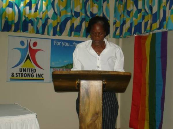Janice Stephens, VP of United and Strong welcomes participants